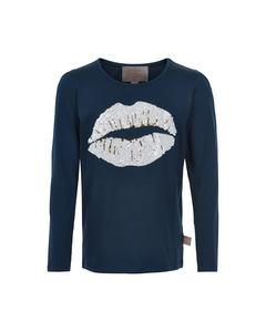 T-shirt Lips Sequins Ls Cloud