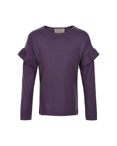 T-shirt Ruffle Ls Nightshade