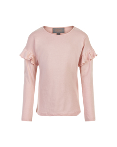 T-shirt Ruffle Ls Rose Smoke