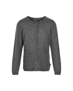 Cardigan Pointelle Dark Grey Melange
