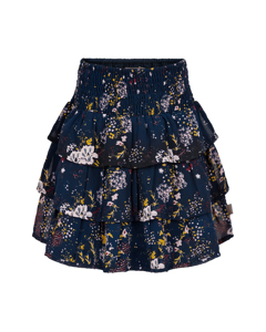 Skirt Printed Chiffon Total Eclipse