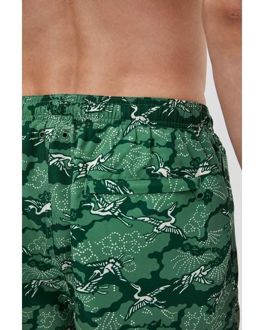 Arket Bedruckte Badeshorts Grün
