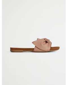 Biabonnie Assym. Bow Slide  Light Pink