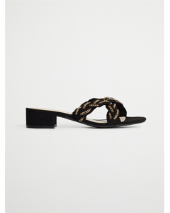 Biabiana Cross Chain Sandal  Black 1