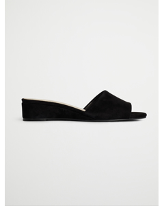 Biacaro Suede Wedge Sandal  Black 1