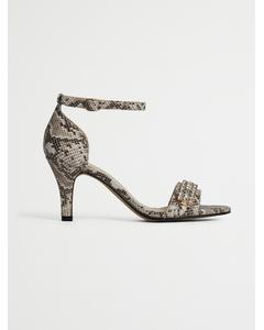 Biaadore Crystal Sandal  Snake