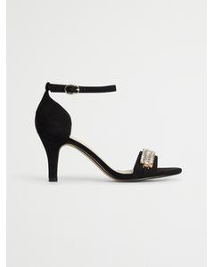 Biaadore Crystal Sandal  Black 1