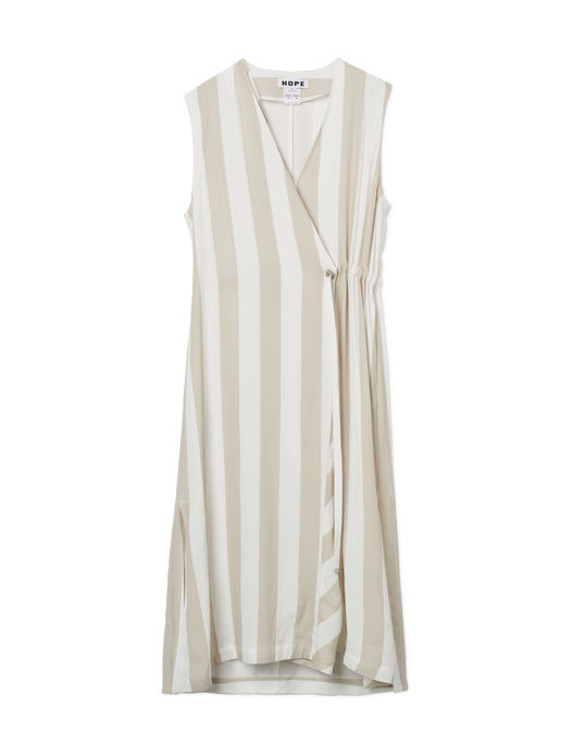 HOPE Zana Dress Beige Stripe