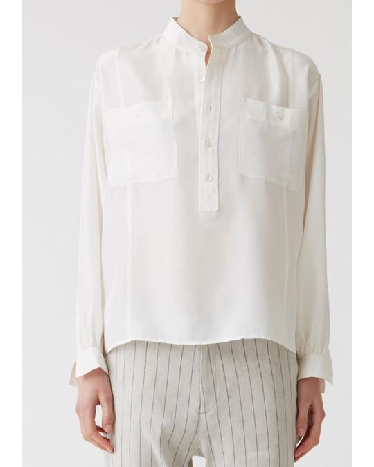 HOPE Dalia Silk Shirt Off White