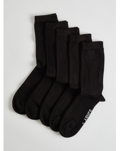 Bamboo Crew Sock Black