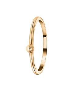 Zilveren Ring Roseplated Bal 3mm