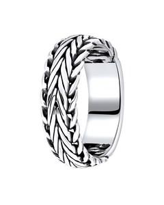 Zilveren Ring Bali Vossenstaartschakel
