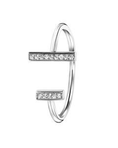 Zilveren Ring Bar Met Zirkonia