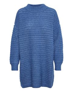 Kawendy Knit Dress Classic Blue/ Melange White