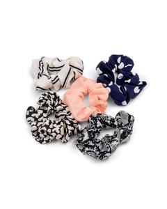 5-pack Silky Scrunchies  Multi