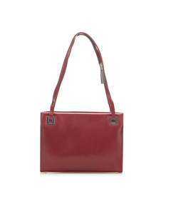 Gucci Leather Shoulder Bag Red