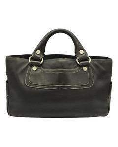 Celine Boogie Leather Handbag Black