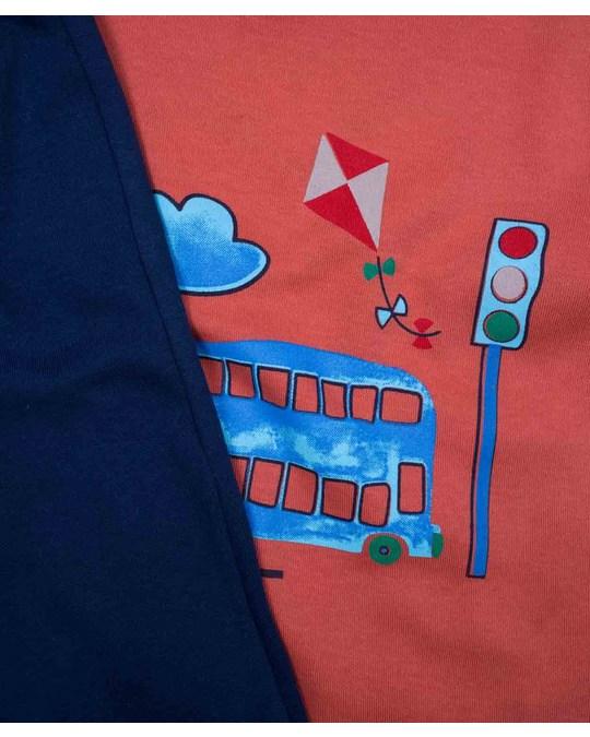 KupKup Bus Printed Pajamas