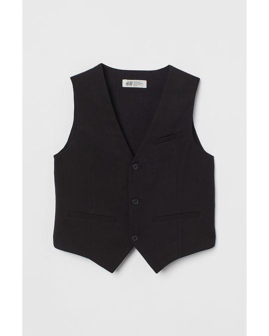 H&M Suit Waistcoat Black