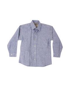 Em Kurt Shirt Blue Linen Blue