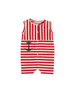Em Vac Jumpsuit Stripe Linen Blend Raspberry