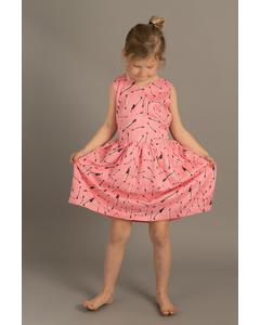 Em Sandy Dress Kids Feather Pink