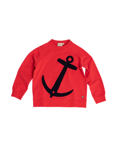 Em Anchor Sweater Kids Raspberry Raspberry