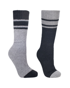 Trespass Mens Hitched Two Tone Anti Blister Hiking Boot Socks (2 Pairs)
