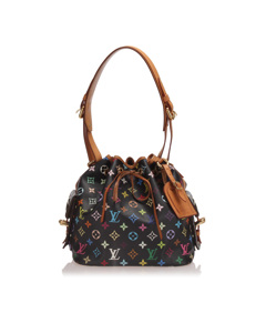 Louis Vuitton Monogram Multicolore Petit Noe Black