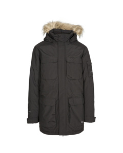 Trespass Mens Pixilation Deluxe Hooded Weatherproof Rain Jacket