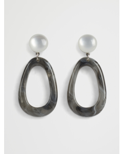 Essie Resin Earring G Grey