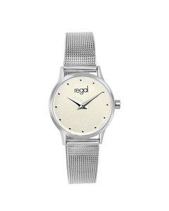 Regal Armbanduhr mit silberfarbenem Gehäuse und Band