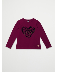 T-shirt Ls Magenta Purple