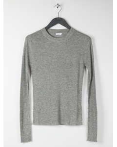 Slim Rib Knit Top Grey