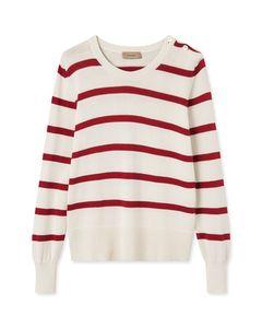 Kadua Stripes Ivory/red