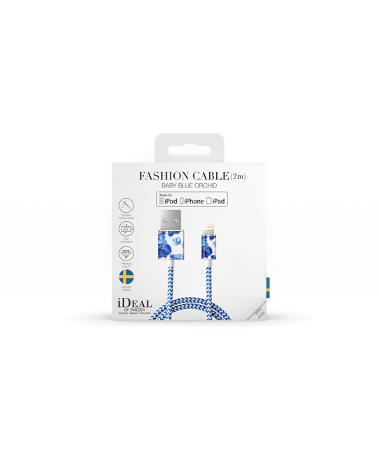 Ideal of Sweden Fashion Cable, 2m Baby Blue Orchid