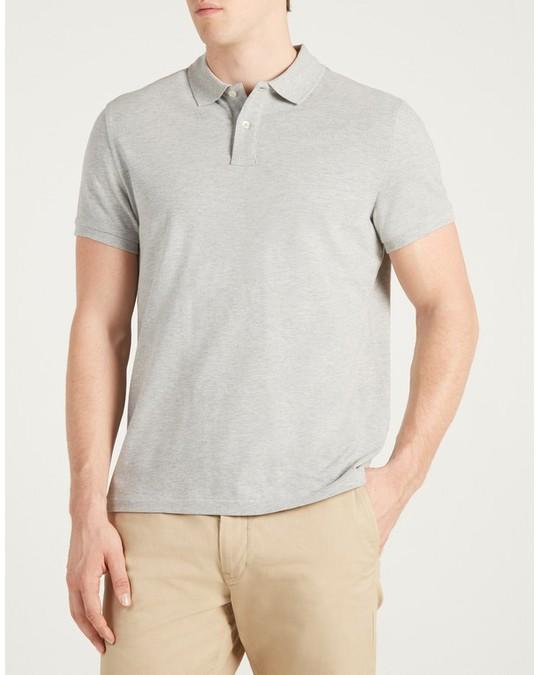 MVP Walden Cotton Pique Polo Shirt Mid Grey Melange