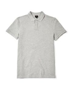 Walden Cotton Pique Polo Shirt Mid Grey Melange