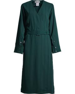 Slash Dress Deep Green