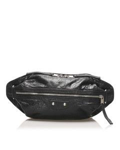 Balenciaga Motocross Classic Lambskin Leather Belt Bag Black