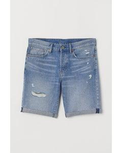 Jeansshorts Straight Hellblau