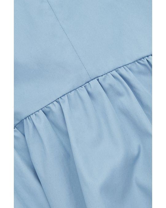 COS Flared Poplin Dress Sky Blue