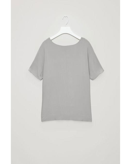 COS Silk Top Grey