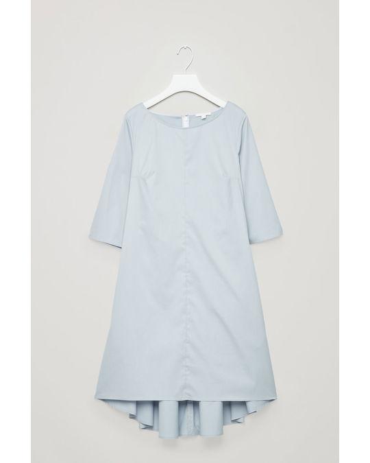 COS DRESS WITH VOLUMINOUS BACK Sky Blue