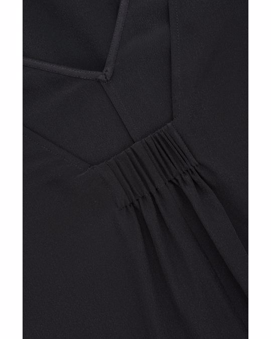 COS SLEEVELESS SILK DRESS Black