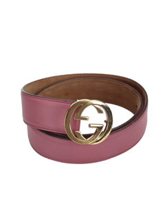 Gucci Gg Leather Belt Pink