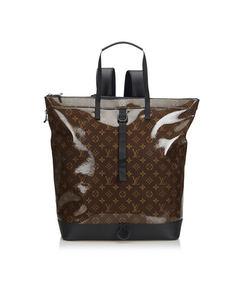 Louis Vuitton Monogram Glaze Backpack Brown