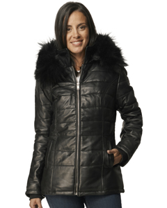 Babet Leather Down Jacket