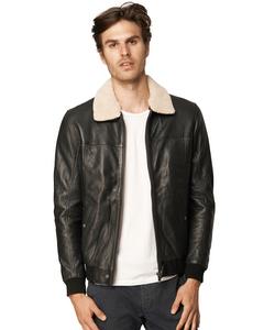 Barnabe Leather Pilot Jacket
