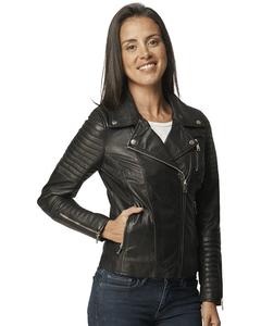 Berenice Leather Biker Jacket